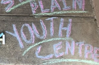 sidewalk chalk writing