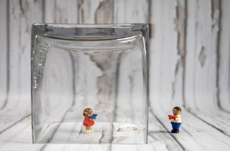 lego in glass
