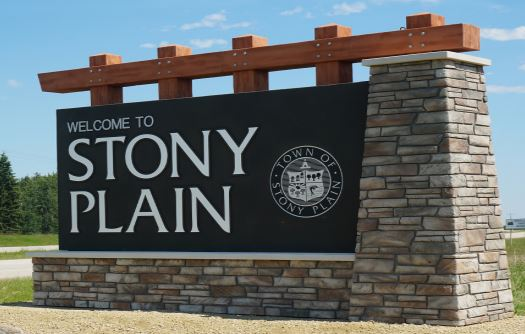 Town entrance sign