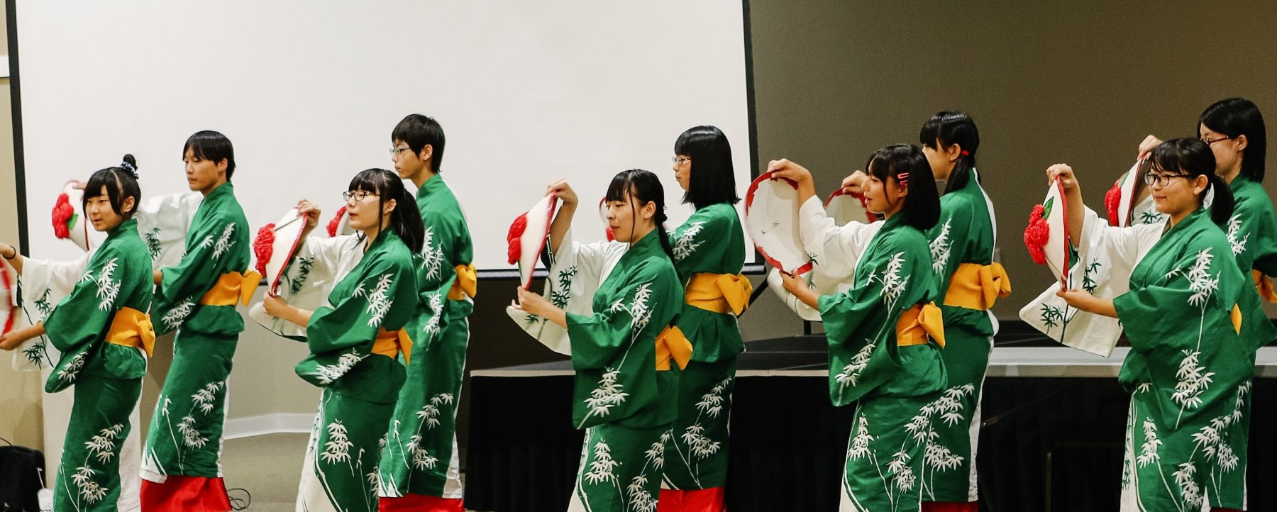 japanese students dancing