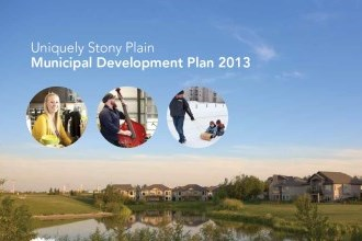 cover of municipal development plan for stony plain