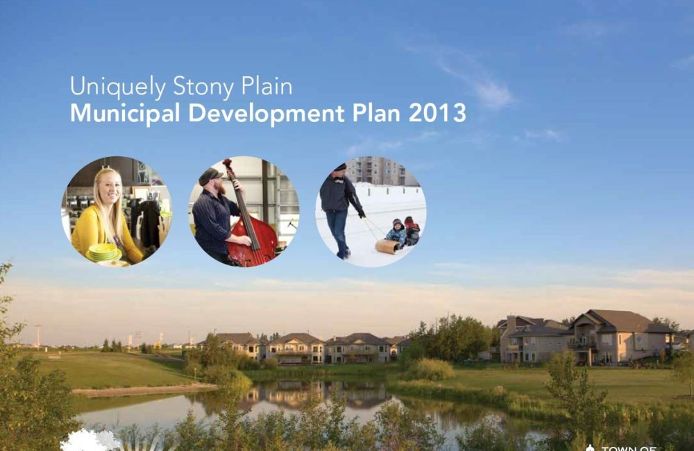 report cover showing Stony Plain